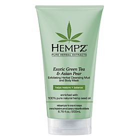 Hempz® Exotic Green Tea & Asian Pear Herbal Exfoliating Cleansing Mud & Body Mask