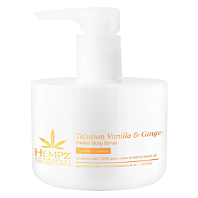 HEMPZ® AROMABODY TAHITIAN VANILLA & GINGER HERBAL BODY SCRUB