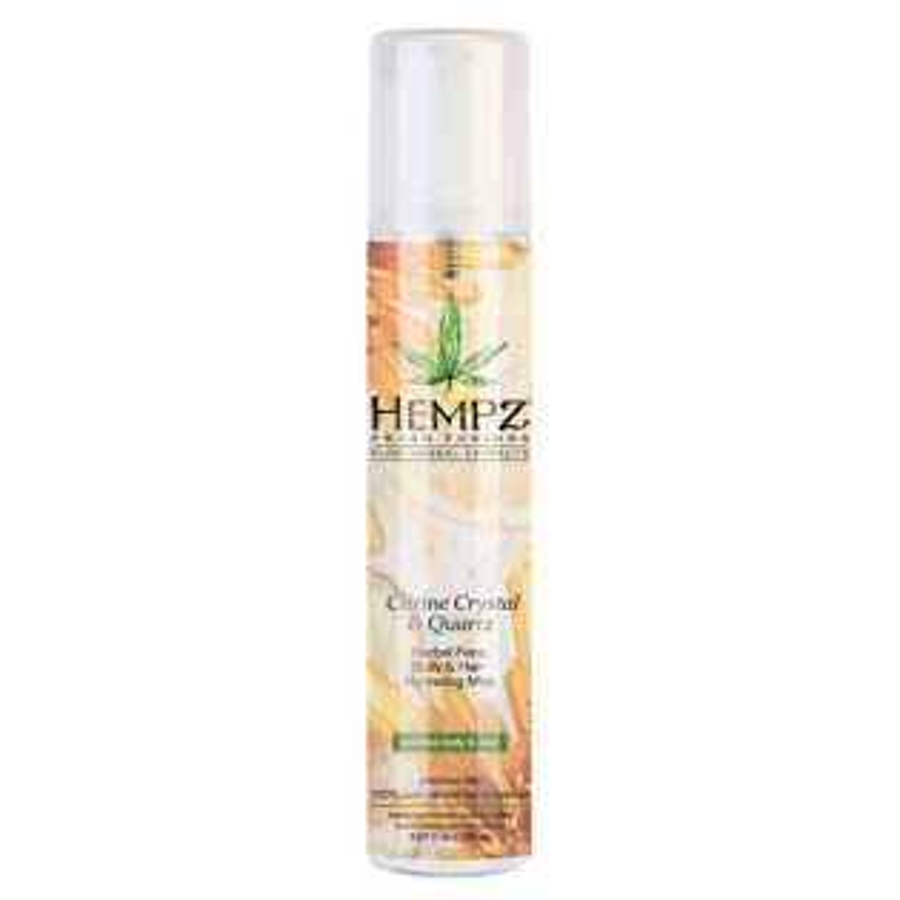 Hempz® Fresh Fusions Citrine Crystal & Quartz Herbal Face, Body And Hair Hydrating Mist