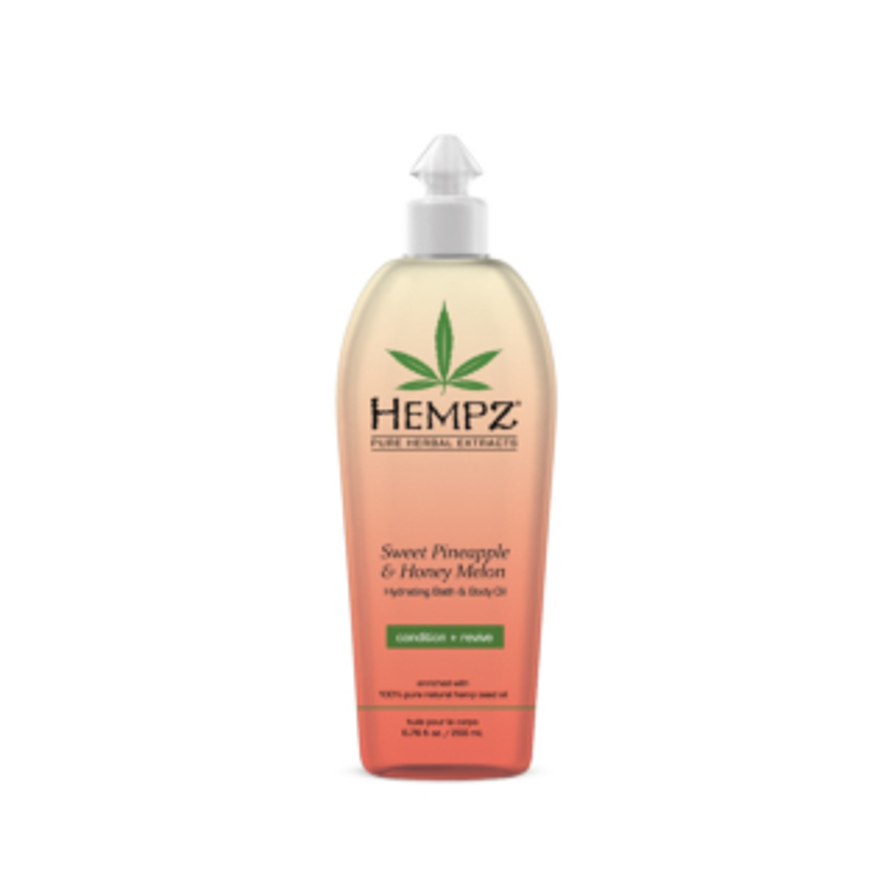 HEMPZ® SWEET PINEAPPLE & HONEY MELON HYDRATING BATH & BODY OIL